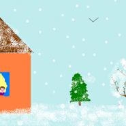 Выставка зимнего рисунка «Первый снег» фотографии