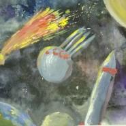 Выставка детского рисунка «Тайны Вселенной» фотографии