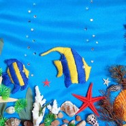 Онлайн-занятие «Панно-аппликация «Подводное царство» фотографии