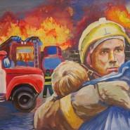 Выставка «Народные художники о пожарных» фотографии