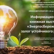 Книжная выставка «Энергосбережение- залог устойчивого развития» фотографии