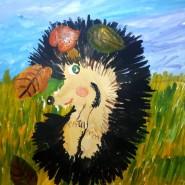 Виртуальная выставка детских рисунков «Жили-были ежики» фотографии