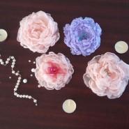 Трансляция мастер-класса «Цветок-украшение из шифона» фотографии