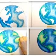 #МАМЫОНЛАЙН Мастер-класс по рисованию «Планета земля» фотографии