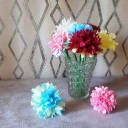 Виртуальный мастер-класс «Цветы из салфеток»