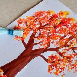 Виртуальный мастер – класс «Рисование ватными палочками»