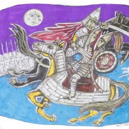 Выставка иллюстраций «Легенда о Коловрате»
