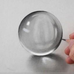 Мастер-класс по рисованию «Прозрачный шар. Акварель»