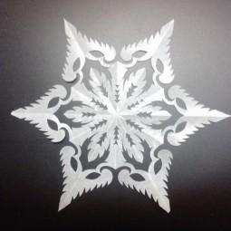 Виртуальный мастер-класс «Рукотворная снежинка»