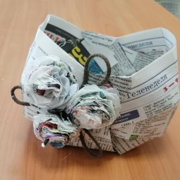 Онлайн мастер-класс «Газетная корзинка»