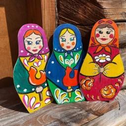 Мастер – класс по росписи деревянной заготовки «Матрёшка»