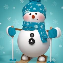 Виртуальная встреча «Снеговик»