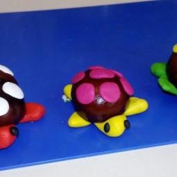 «Необычная черепаха» - поделка из каштанов
