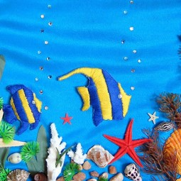 Онлайн-занятие «Панно-аппликация «Подводное царство»