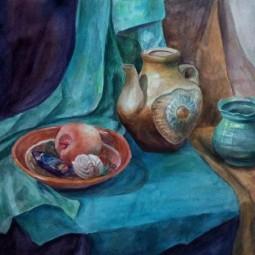 Выставка работ А. Кудряшовой «Живопись и батик»