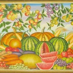 Выставка «Цветы и фрукты»