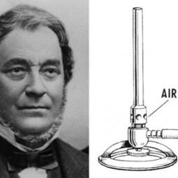 1847 - Немецкий химик Роберт Бунзен изобрёл горелку, названную его именем.
