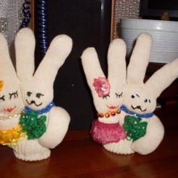 Мастер-класс «Зайчики из перчаток»