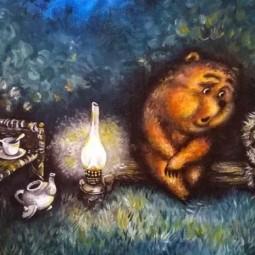 Спектакль «Сказки про ежика и медвежонка»