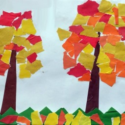 Мастер-класс «Осенние деревья»