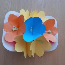 Мастер-класс «Открытка из цветов»