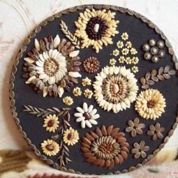 Творческая мастерская – панно из тыквенных семечек «Летний пейзаж»