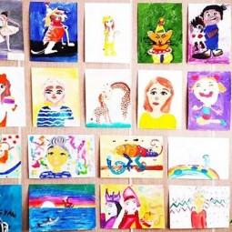 Выставка творческих работ кружка живописи «Радуга» и «Радужный мир».