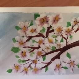Виртуальный мастер-класс «Яблоневый цвет»