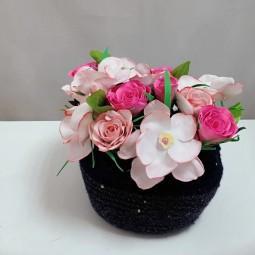 Онлайн мастер-класс «Нарциссы и розы»