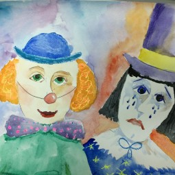 Виртуальный мастер – класс «Веселый и грустный клоун»