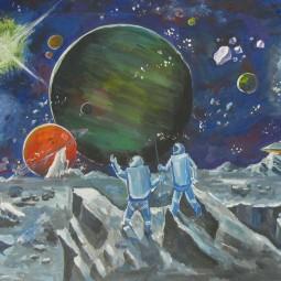 Выставка работ, посвященная дню космонавтики «Наш космос»