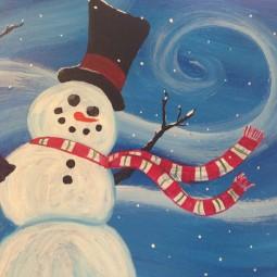 Виртуальный мастер-класс «Снеговик»