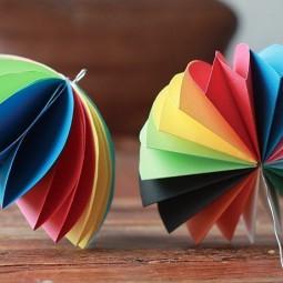 Мастер–класс «Разноцветный зонтик» в технике оригами