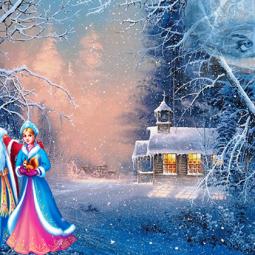 Новогодняя елка «Снежная сказка»