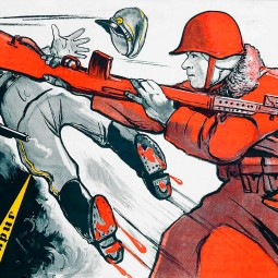 Юмористические плакаты ВОВ
