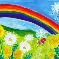 Выставка рисунков воспитанников ИЗО-студии «Волшебная палитра»: «Счастливое детство»