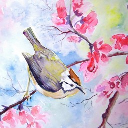 Виртуальный мастер-класс «Цветы и птицы»