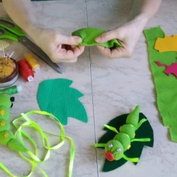Виртуальный мастер-класс «Веселая гусеница»