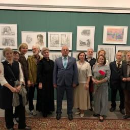 Открытие юбилейной выставки 50 лет Ногинской ДХШ в Ногинском МВЦ 08.10.2021 года