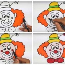 Мастер-класс по рисованию «Клоун»