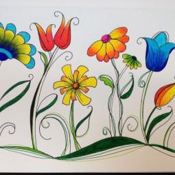 Виртуальное занятие «Волшебные цветы»