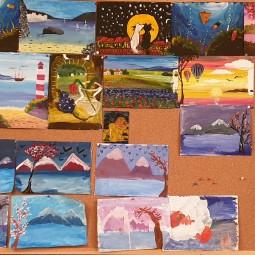 Выставка осенних рисунков