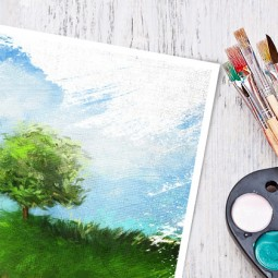 Онлайн занятие, мастер–класс по рисованию.