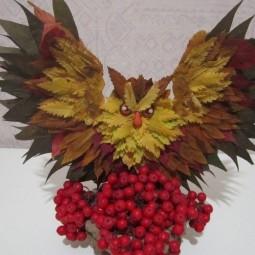 «Красавица Осень» поделка из листьев»