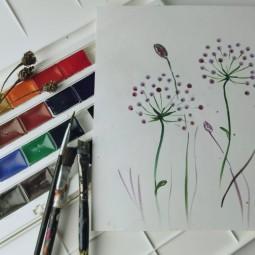 Онлайн-мастер-класс «Рисуем сухоцвет»