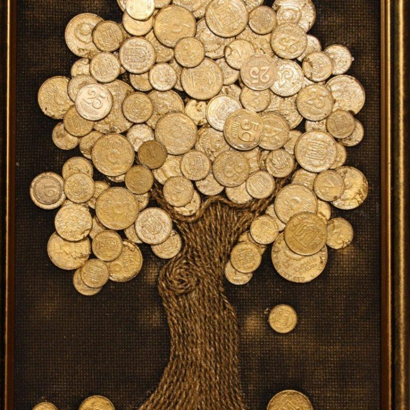 денежное дерево картинка из денег своими руками проходят